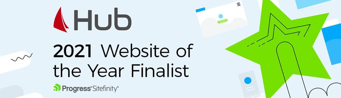 Hub 2021 Website of the Year Finalist